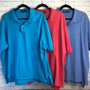 Polo by Ralph Lauren. Lot of three polo shirts.